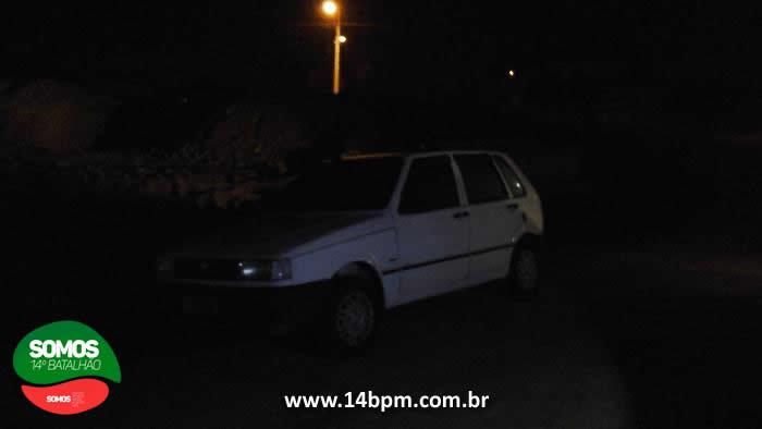 Fiat Uno furtado é recuperado em Jaraguá do Sul
