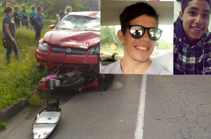 Dois jovens ficam gravemente feridos em acidente em Jaraguá do Sul