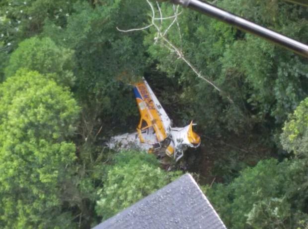 Piloto morre em queda de avião em Santa Catarina