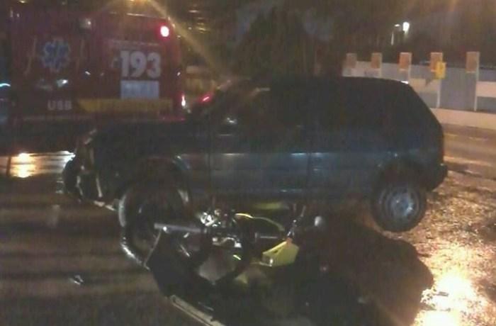 Motorista embriagado se envolve em acidente de trânsito em Guaramirim