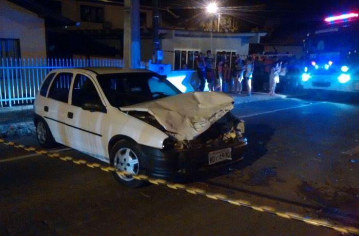 Quatro pessoas são conduzidas ao hospital após acidente em Jaraguá do Sul