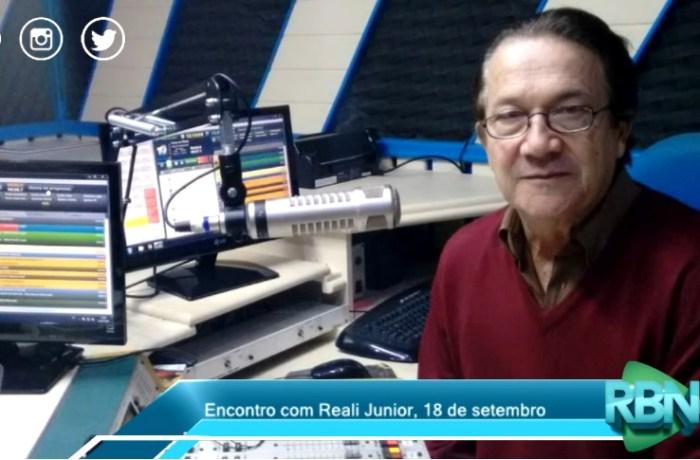 Encontro com Reali Junior desta terça-feira, 18 de setembro