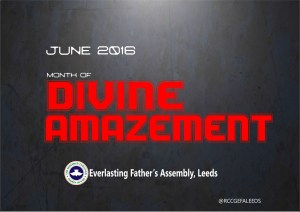June 2016 Theme - Divine Amazement