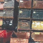 Steel Drop Bottom Corrugated Bins 50 x 34 x 30 h item 540