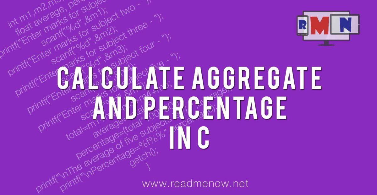 Calculate aggregate and percentage in C