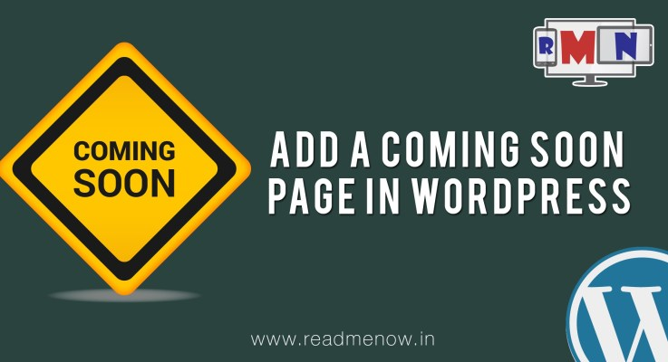 WordPress Tutorial – Add a Coming Soon Page