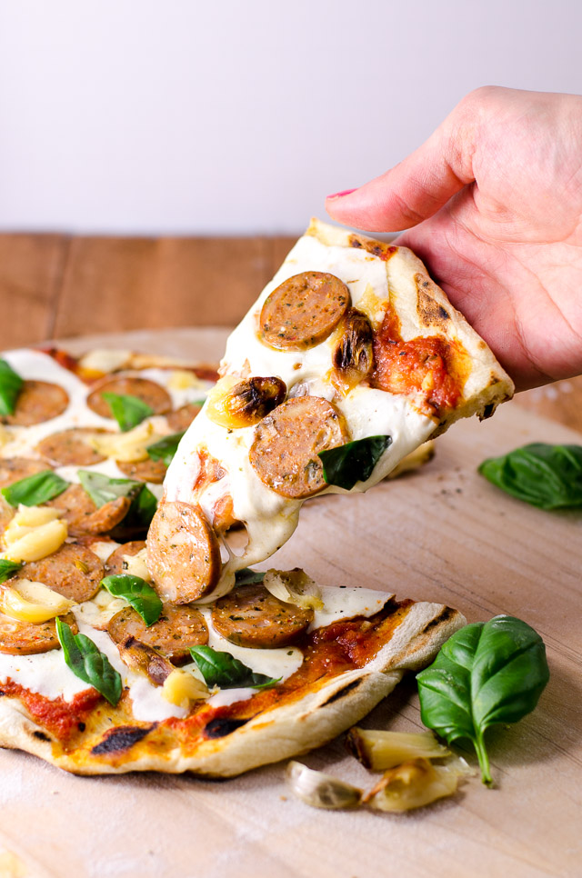 Grilled pizza is the perfect summer meal, with an easy, crispy crust and whatever toppings make you happy!