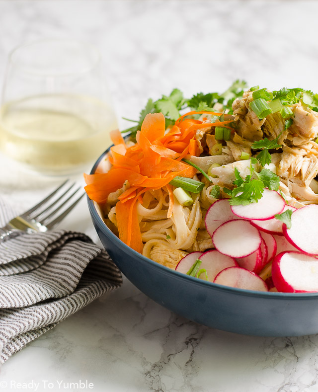 Cold Noodle Salad with Spicy Peanut Sauce is fresh and tasty for late summer and early fall...cool enough to beat the heat, with a zesty kick to get your blood moving!