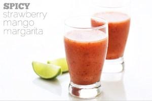 Spicy Strawberry-Mango Margarita via Real Food by Dad