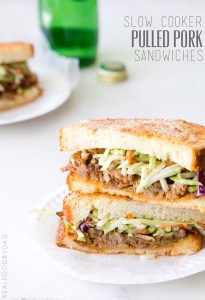 Slow Cooker Pulled Pork Sandwich from Real Food by Dad