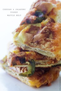 Cheddar and Jalapeno Turkey Waffle Melt by Real Food by Dad