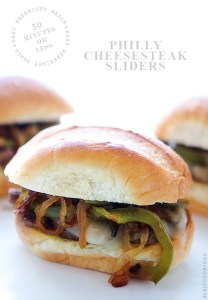 Philly Cheesesteak Sliders from Real Food by Dad