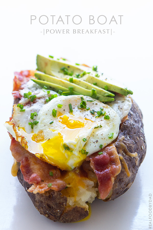 Power Breakfast Baked Potato via Real Food by Dad