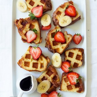 Coffee Cake Waffles by Real Food by Dad