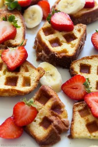 Coffee Cake Waffles with Real Food by Dad