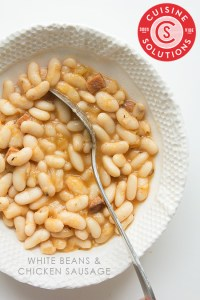 White Beans and Chicken Sausage via Real Food by Dad