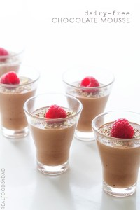 Dairy-Free Chocolate Mousse via Real Food by Dad