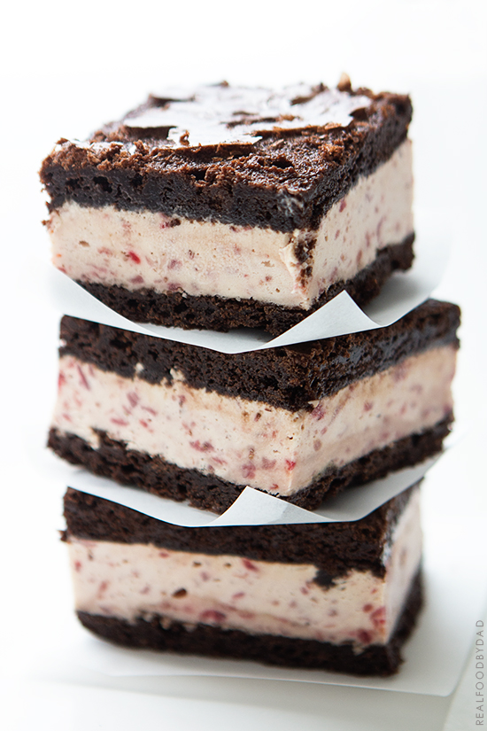 Strawberry Ice Cream Brownie Ice Cream Sandwiches | Real Food by Dad