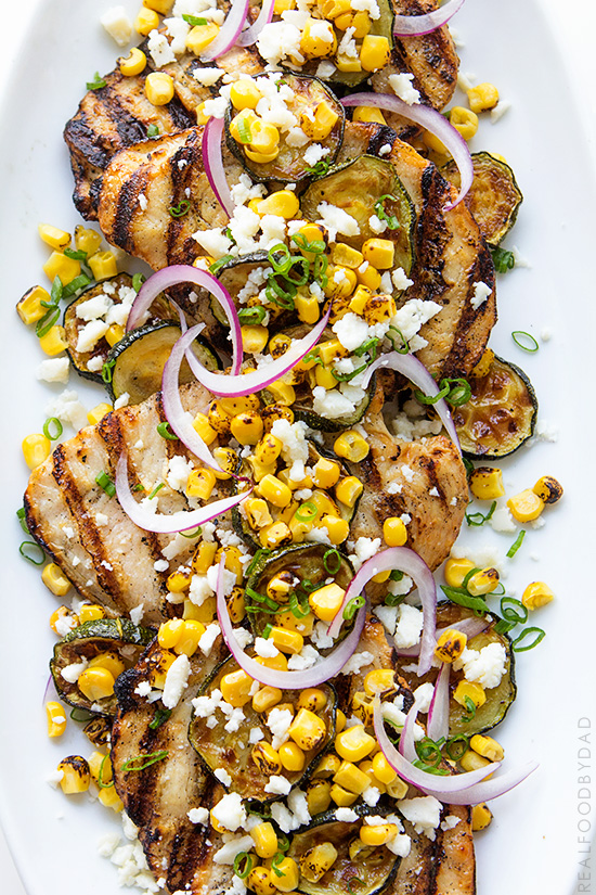 Grilled Chicken and Summer Vegetables with Real Food by Dad