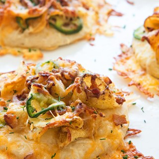 Cheesy Bacon and Jalapeno Potato Chip Pizza Bites