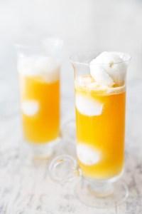 Peach Mango Sorbet Float via Real Food by Dad