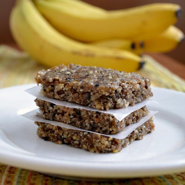 Homemade banana Larabars are so easy to make! Delicious snack recipe.