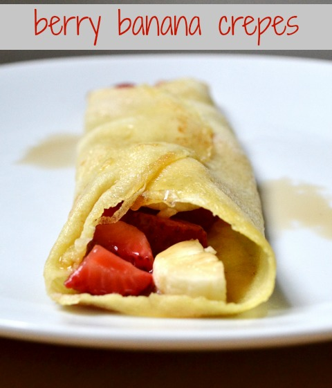 berry banana crepes