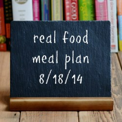 real food meal plan week 27