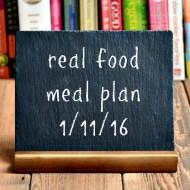 Real Food Meal Plan Week 96