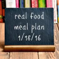 Real Food Meal Plan Week 97