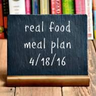 Real Food Meal Plan Week 110