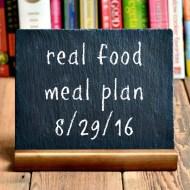 Real Food Meal Plan Week 125