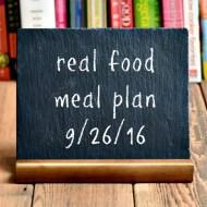 Real Food Meal Plan Week 129