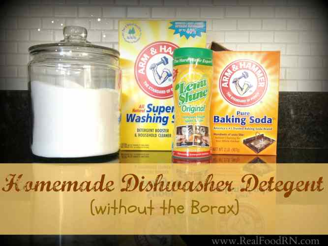 Homemade Dishwasher Detergent Without Borax | Real Food RN