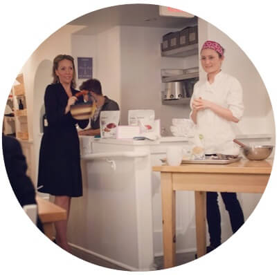 Image of Katie + Lindsay holding their Real Healing Kitchen event