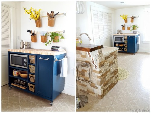Swanky Check Out This Diy Custom Rolling Kitchen Island Custom Diy Rolling Kitchen Island Reality Daydream Diy Small Kitchens Makeovers Diy Small Kitchen Units