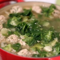 italian wedding soup w/turkey meatballs
