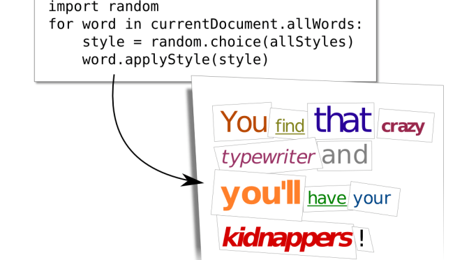 Embedding example: Scripting a word processor.