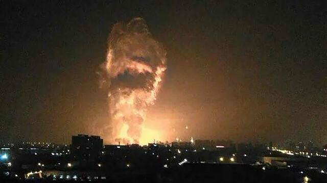 Actual picture of part of China exploding