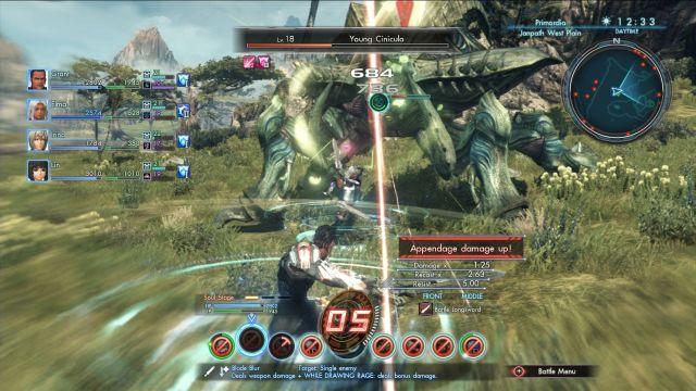 Xenoblade Chronicles combat