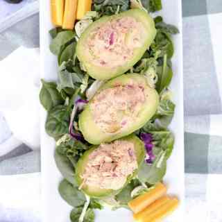 Chicken salad stuffed avocados two