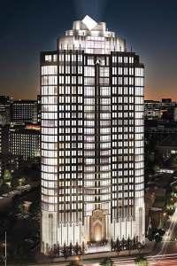 Rendering of 29-story Astoria condo under construction in Uptown Houston.