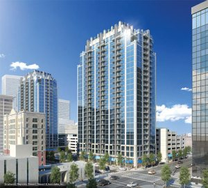Rendering of proposed SkyHouse Main, slated to be built in downtown Houston.
