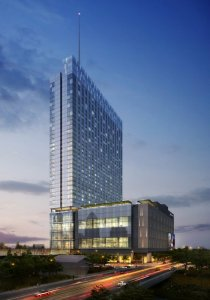 Rendering of 1,066-room Fairmont Austin hotel. Construction will begin in November and be completed in 2017.