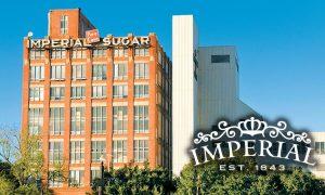 The historic Imperial Sugar building near Houston.