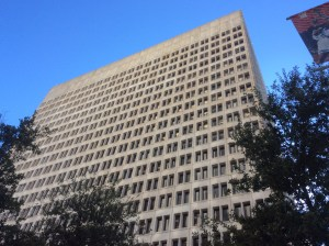 The 600 Jefferson tower in downtown Houston has been purchased by Stream Realty and DRA Advisors. Photo by Ralph Bivins.