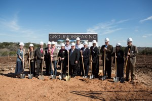 Hines, Novak Brothers and dignitaries break ground on a 222-room Sheraton in Georgetown, Texas.