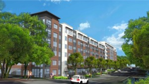 Rendering of Hanover Co. multifamily projecet to be built in Atlanta;s Buckhead district.