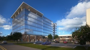 Rendering of Wildwood Corporate Centre II, a spec project north of Houston.