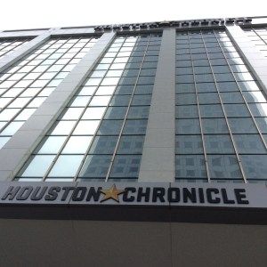 The Houston Chronicle building, 801 Texas Ave., has been sold to Hines. Photo credit: Ralph Bivins of Realty News Report.